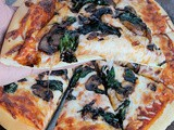 Spinach, Mushroom, & Caramelized Onion Pizza