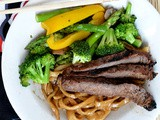 Steak Stir Fry Noodle Bowls with Homemade Udon Noodles #FantasticalFoodFight