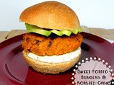 Sweet Potato Burgers with Roasted Garlic Sauce