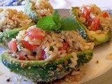 Tabbouleh Stuffed Crusty Avocados (Secret Recipe Club)