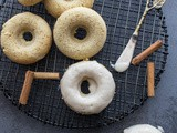 Baked Apple Butter Cake Donuts with Maple Frosting