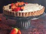 Chocolate Puff Pastry Strawberry Pie