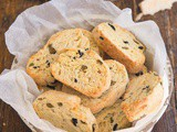 Savory Biscotti with Olives & Parmesan