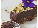 Raw vegan chocolate cake