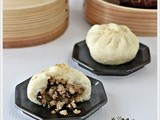 Steamed Meat Bao with Preserved Vegetables