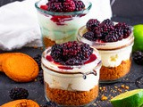 Blackberry Lime Cheesecake Jars {No Bake!}