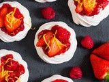 Meringue Nests with Homemade Berry Jam