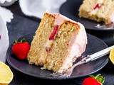 Strawberry Lemon Layer Cake
