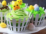 Easter Cupcakes {Eggless}