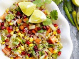 Healthy mung sprouts and sweet corn salad