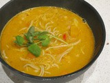 Carrot-curry noodle soup