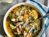 Sausage, Kale and Veggie Soup {Low Carb / Keto}