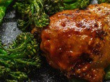 Sweet + Spicy Chicken Thighs w/ Roasted Broccolini