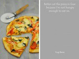Thin crust apple red-pepper pizza