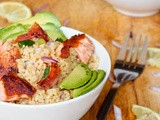 Asian Couscous with Salmon {Dairy-Free}