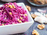Beet Salad with Walnuts and Garlic {gf, df}