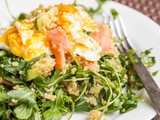 Breakfast Quinoa Salad with Eggs and Smoked Salmon {Gluten-Free, Dairy-Free}