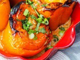Chicken Stuffed Peppers with Rice and Carrots {Paleo}
