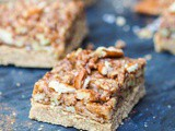 Coffee Pecan Pie Bars {7 Ingredients, Vegan, gf, Refined Sugar Free}