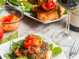 Holiday Broiled Chicken with Pesto and Romesco Sauce {gf, df}