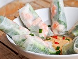 Shrimp and Cucumber Fresh Spring Rolls