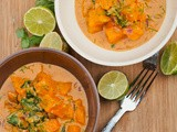 Vegan Butternut Squash and Spinach Coconut Curry {Gluten-Free}