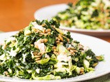 Vegan Kale and Brussels Sprouts Salad with Sunflower Seeds {Gluten-Free}