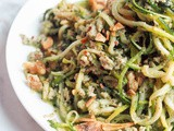 Whole30 Zucchini Noodle Pasta with Pesto and Chicken {gf, df, Paleo}