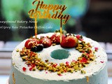 9  Earl Grey Rose Pistachio Chiffon Cake for a father birthday