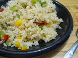 Colourful Capsicum Rice | Left Over Rice Recipe | Lunch Box Ideas