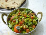 Easy Sabzi for Roti | Sabzi with Green Peas & Red Carrot