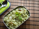 Mint-Coriander Rice | Easy Lunch Box Ideas