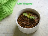Mint Thogayal | Pudina Thokku for Rice