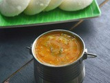Tiffin Sambar | Moong Dal Sambar | Sambar wirh Freshly Ground Masala | Side dish for Idli/Dosa