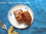 Whole Wheat Flour &Oats Brownies -Eggless | Eggless Baking