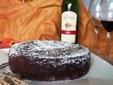 Red Wine Chocolate Cake ...& a Bottle of Four Seasons 'Shiraz' Wine