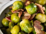 Maple Roasted Brussel Sprouts with Bacon and Toasted Walnuts
