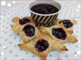 Homemade Blueberry Jam with Puff Pastries