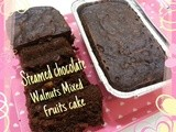 Steamed Chocolate Walnuts Mixed Fruits Cake