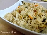 Capsicum Rice |  Bell Pepper Rice