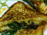 Spinach and Caramelized Onions Grilled Cheese