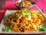 Chilli Chicken and Spicy Vegetable Noodles