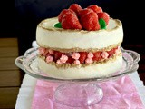 Project cake: strawberry faultline cake