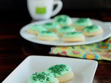 Soft sugar cookies with marshmallow cream frosting