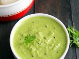 Green Coconut Chutney | South Indian Coconut Coriander Chutney