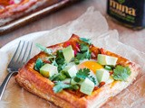 Egg, Cheddar, and Green Harissa Puff Pastry Squares (and giveaway!)