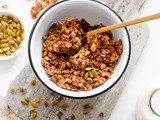 Mexican Granola with Cocao Nibs and Pumpkin Seeds