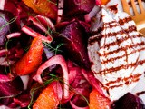 Roasted Beet Salad with Fennel, Orange, and Whipped Ricotta