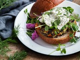 Wild Rice Veggie Burgers with Herbed Ricotta