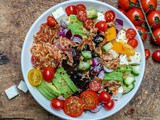 Bacon Avocado Greek Salad – Keto Recipe